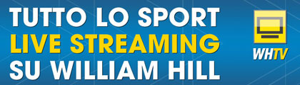 Scommesse sportive in live streaming di William Hill